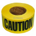 Stens Barricade Caution Tape / 2 Mil. Black/Yellow