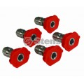 "1/4"" Composite Spray Nozzles / 3.0 Size, Red, 5 Pack"